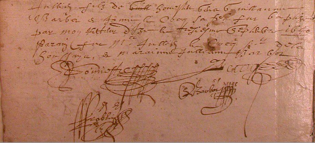 Au détour des actes : signature