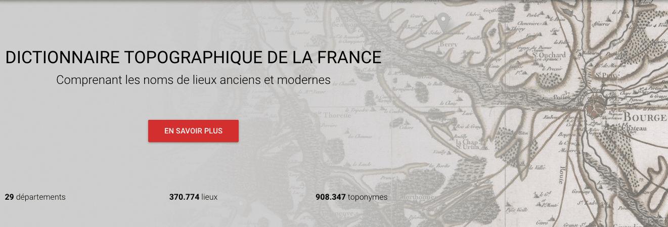 dictionnaires topographiques, généalogie, géographie