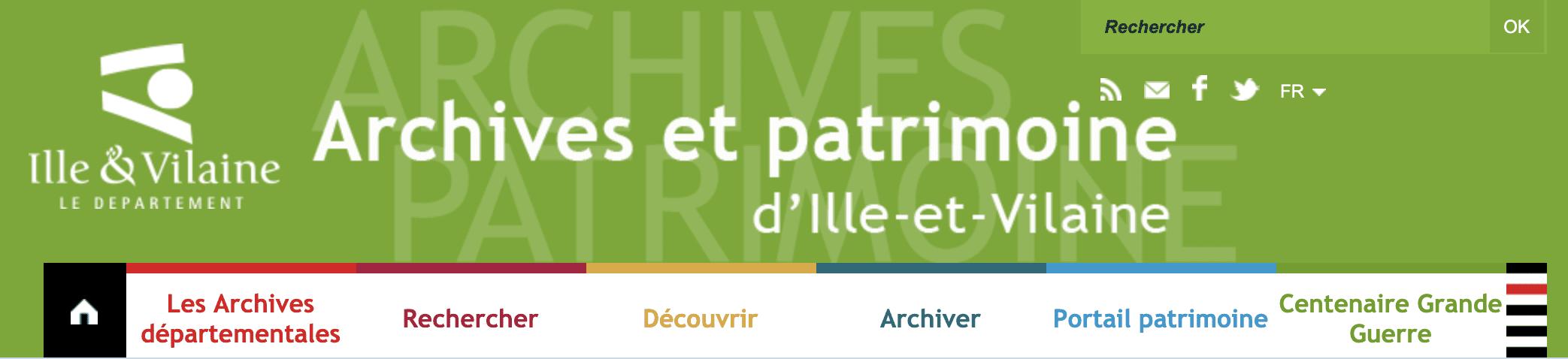 Tour de France, archives, Ille-et-Vilaine, Gallica, généalogie